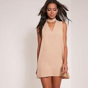 NEW w TAGS Stone Choker Detail Loose Fit Dress
